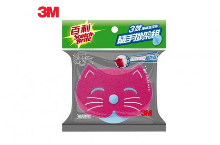 3M海綿菜瓜布 餐具/鍋具 專用(紅貓)1布+1盤