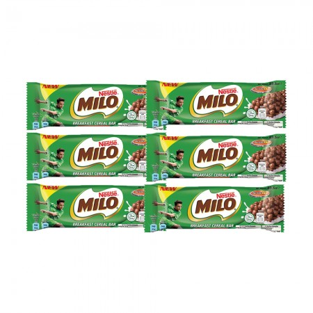 Milo美祿 Nestle雀巢 可可脆片健康穀物棒23.5g(6條入)