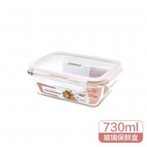樂扣樂扣 耐熱玻璃保鮮盒長方形-730ML