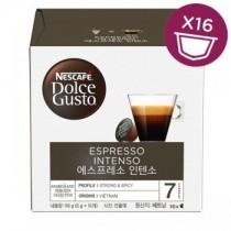 雀巢 Dolce Gusto 義式濃縮濃烈咖啡膠囊  16顆/盒(單盒)