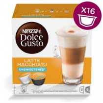 雀巢 Dolce Gusto無糖拿鐵咖啡膠囊 16顆/盒(單盒)