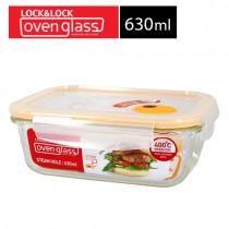 樂扣樂扣 耐熱玻璃保鮮盒長方形-630ML