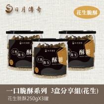 【組合】日月傳奇 花生脆酥 250g 3罐分享組