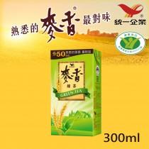 【統一】麥香綠茶 300ml 1入