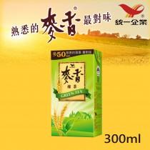 【統一食品】麥香綠茶 300ml 1入