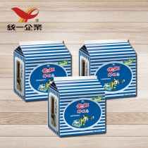 【統一食品】統一麵-鮮蝦風味3袋 (內含15包)