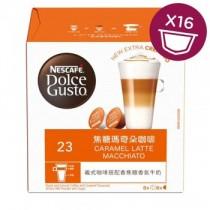 雀巢 Dolce Gusto焦糖瑪奇朵咖啡膠囊 16顆/盒(單盒)